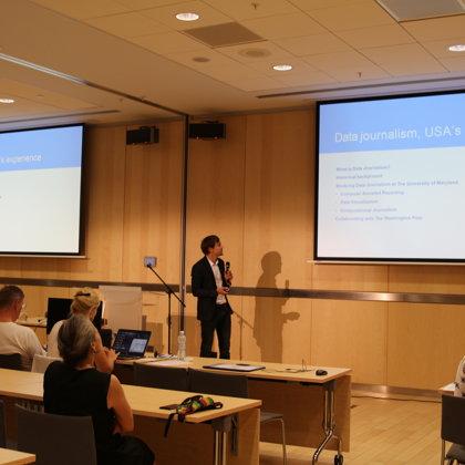 Keynote speech by Kārlis Dagilis on data journalism