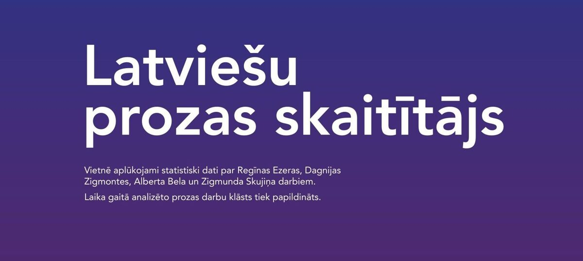 Latvian prose counter
